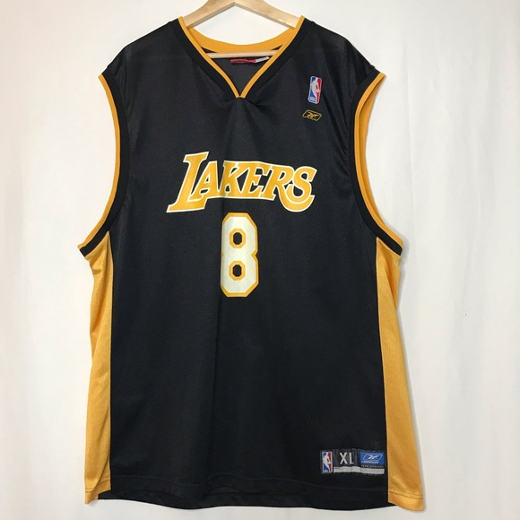 best loved f2770 9ac7e Reebok LA Lakers Kobe Bryant 8 Jersey Black Yellow